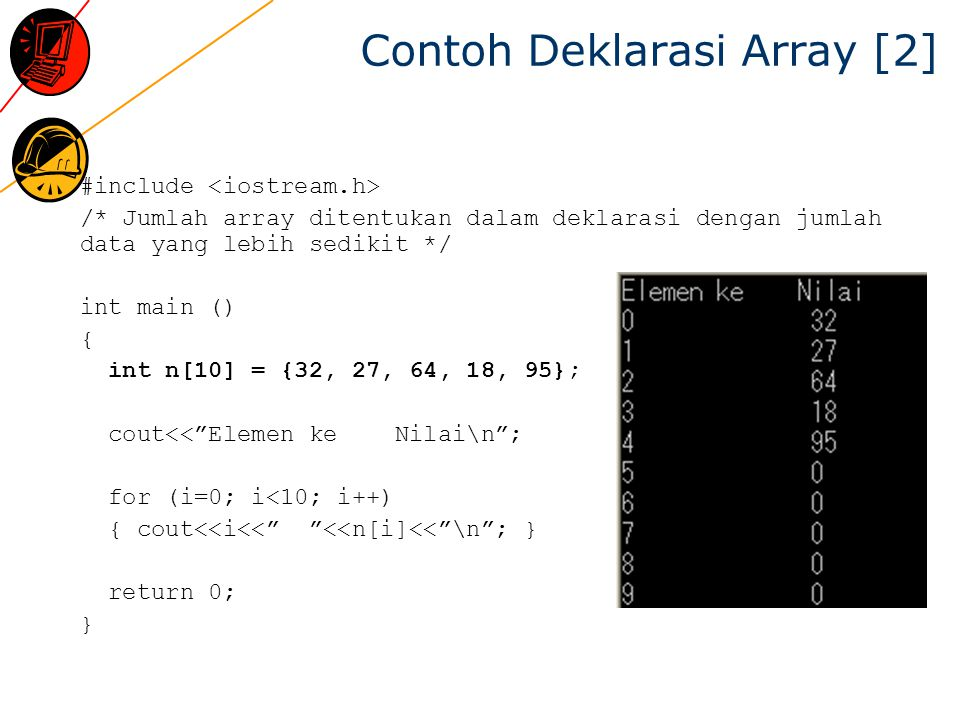 Contoh Deklarasi Array [2]